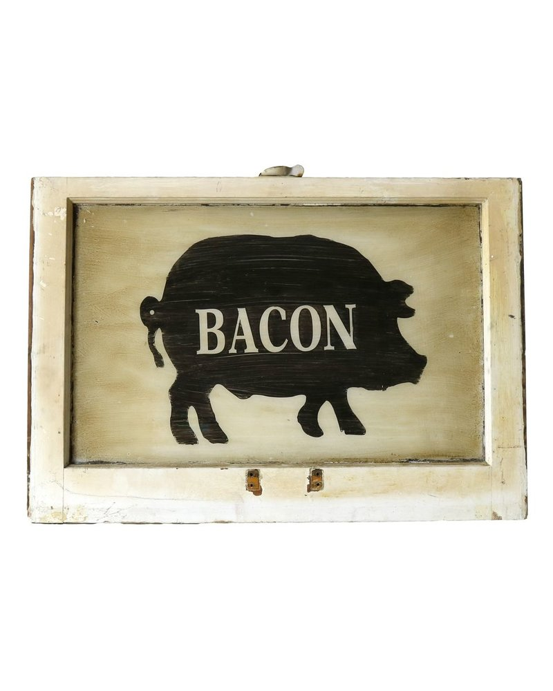 Vintage Window Art - Bacon