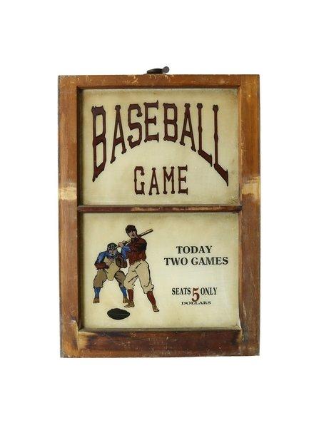 Vintage Window Art - Baseball