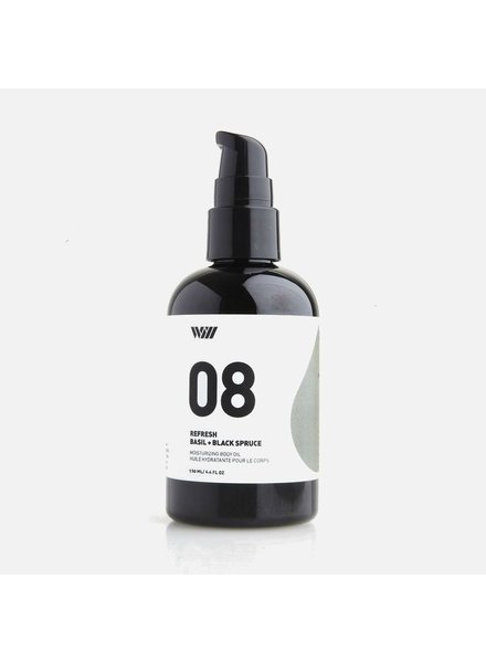 Way of Will Inc Basil & Black Spruce Body Oil