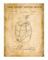 Watson & Co Beer Barrel Patent Sign 12x16