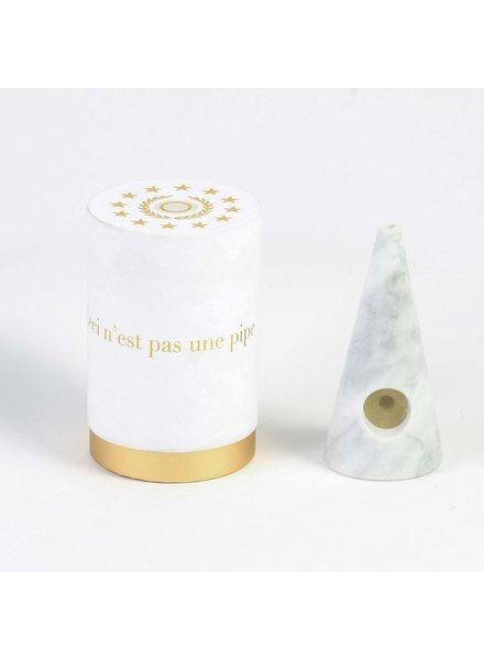 Fredericks & Mae White Marble Pipe