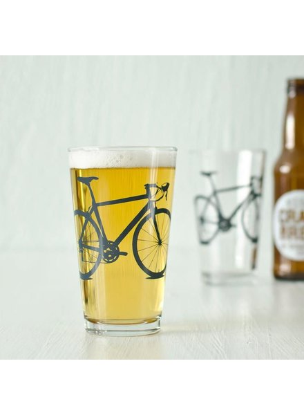 Vital Industries Bicycle Glass Pint 16oz -Charcoal