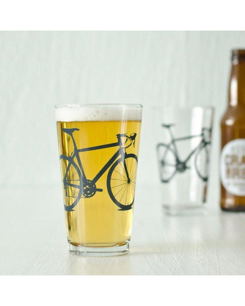 Vital Industries Bicycle Glass Pint 16oz -Charcoal
