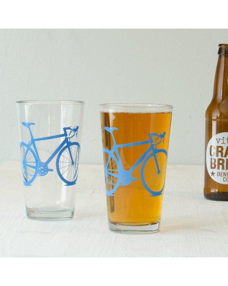 Vital Industries Bicycle Glass Pint 16oz -Bluebird