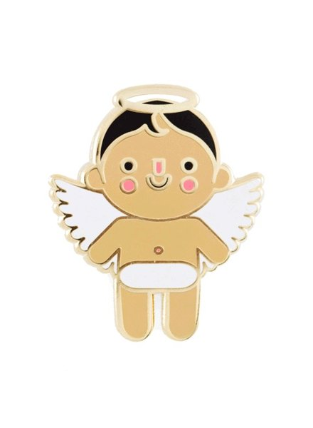 These Are Things Angel Baby Enamel Pin