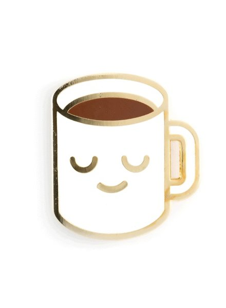 These Are Things Coffee Mug Enamel Pin