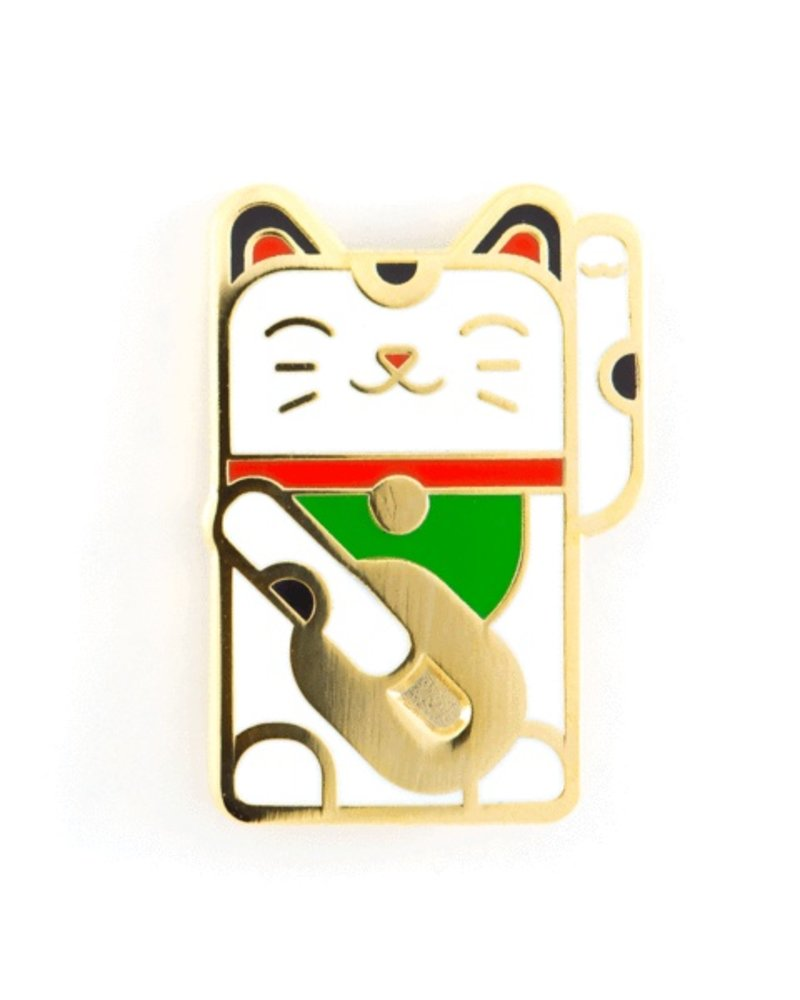 These Are Things Lucky Cat Enamel Pin