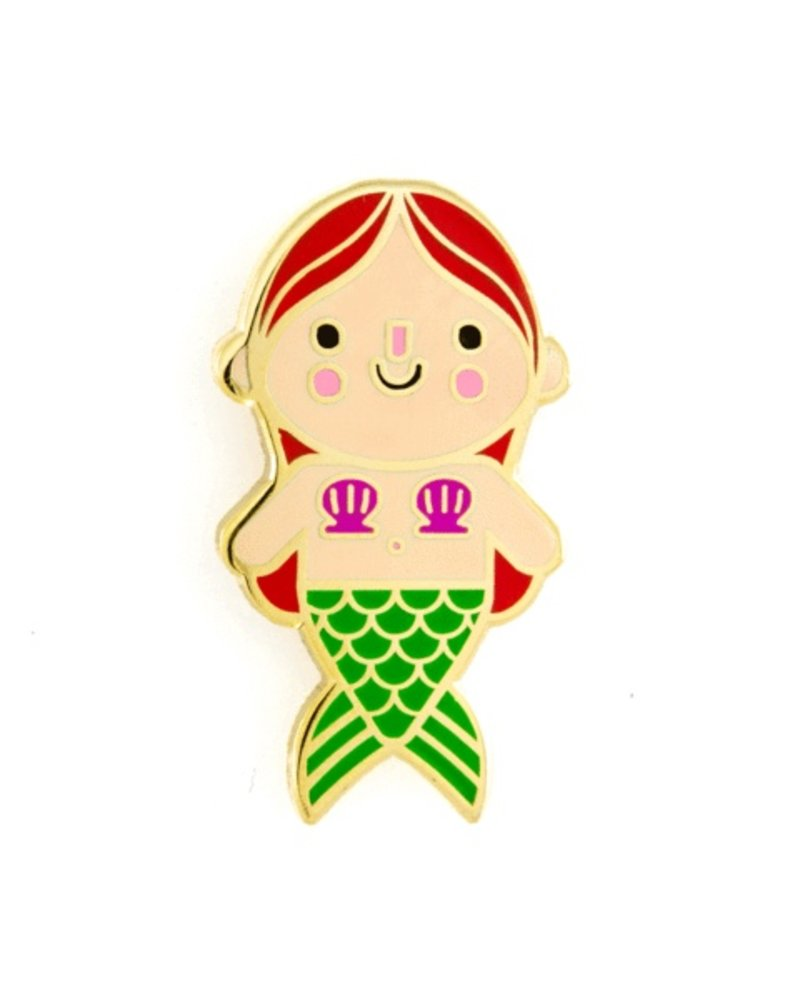 These Are Things Red Mermaid Baby Enamel Pin