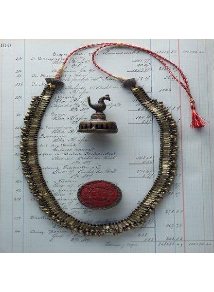 Vagabond Vintage Furnishings Gold Metal Bohemian Necklace - Black