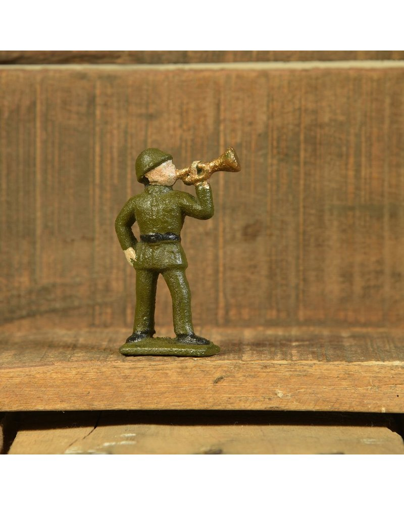 HomArt Army Men Trumpeter, Cast Iron