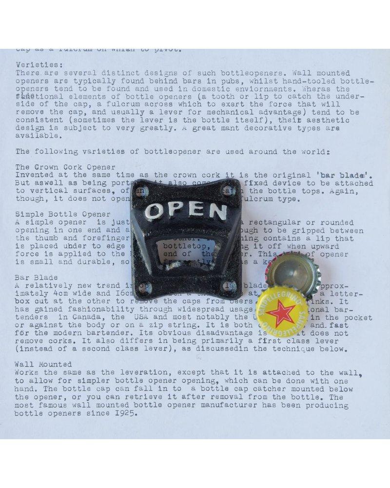 HomArt Bottle Opener - OPEN - Black
