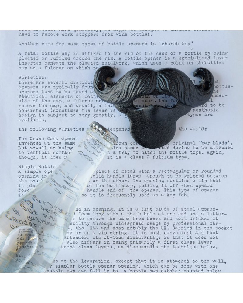 HomArt Mustache Bottle Opener - Black
