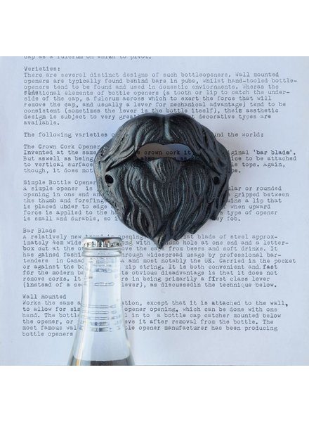 HomArt Beard Bottle Opener - Black
