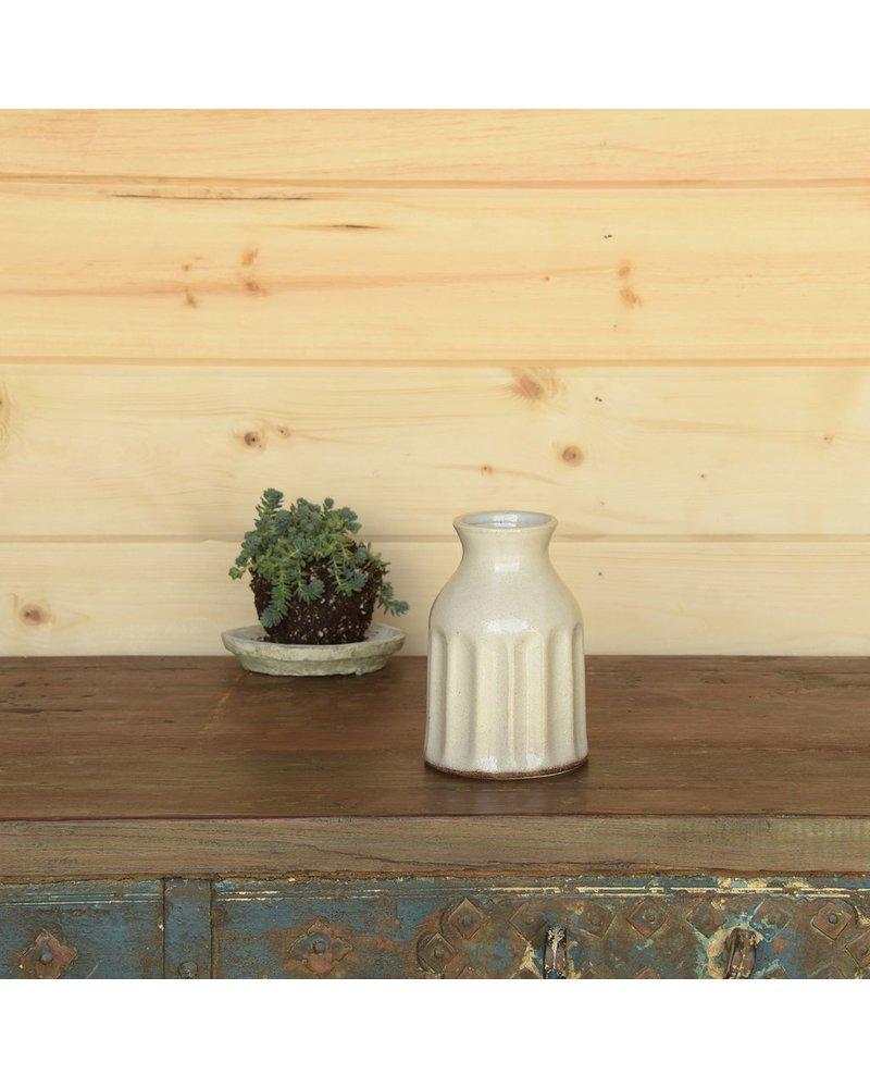HomArt Caldwell Ceramic Vase - White