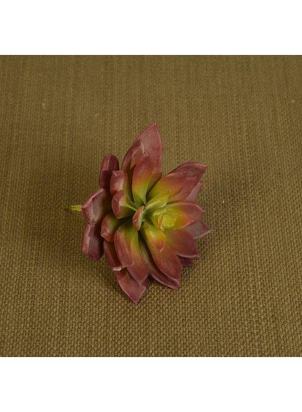 HomArt Faux Echeveria Succulent - Lrg - Red