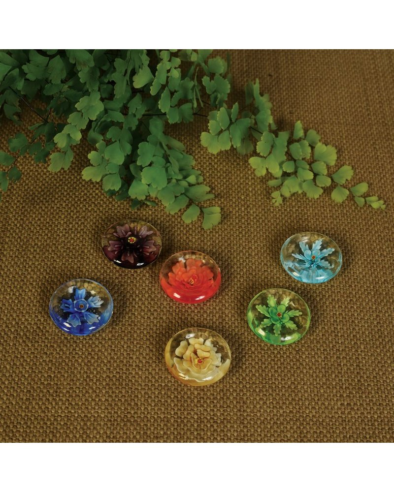 HomArt Glass Enclave Flowers, Bag of 6 Assorted