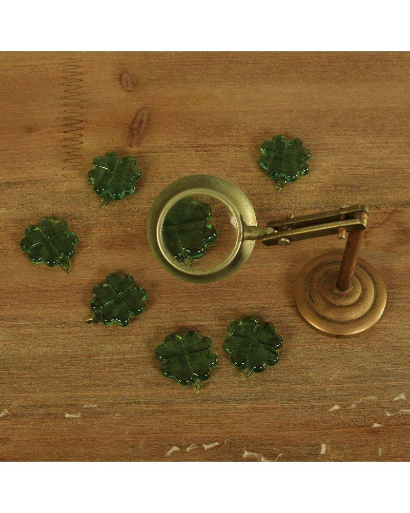 HomArt Tiny Glass Clover - Green