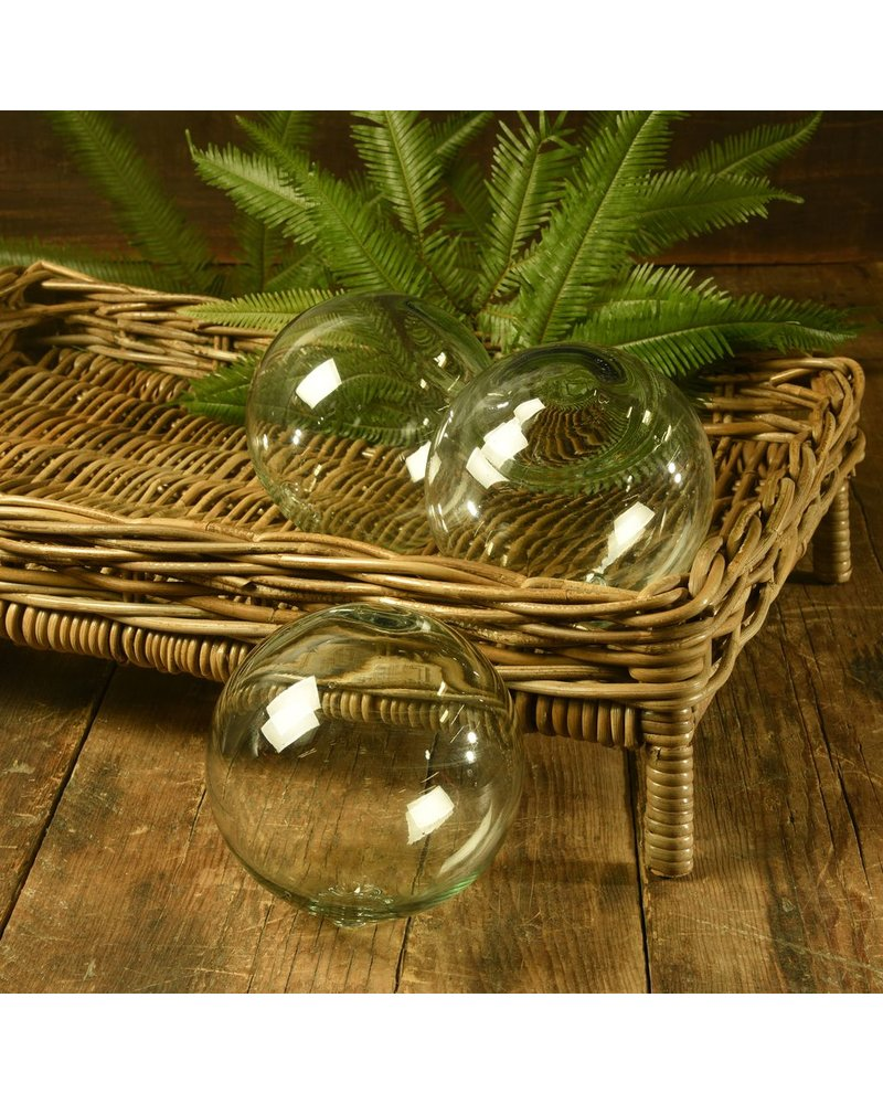 "HomArt Recycled Glass Sphere - 6"" - Recycled"