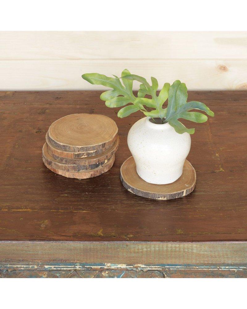 HomArt Wood Slice Coasters, Set of 6