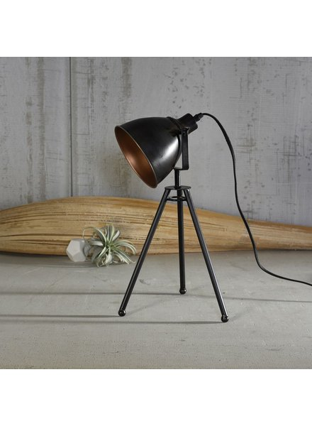 HomArt Directors Metal Table Lamp - Black & Brass