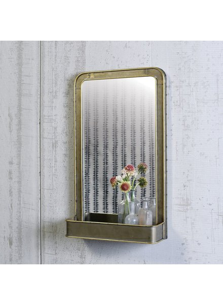 HomArt Archer Mirror with Metal Shelf