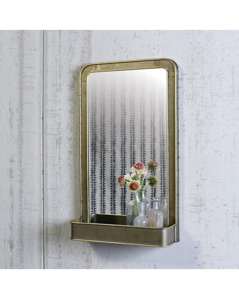 HomArt Archer Mirror with Metal Shelf