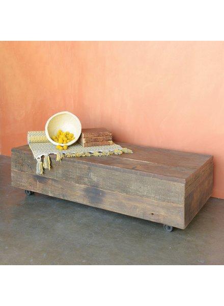 HomArt Arcadia Rolling Plank Coffee Table