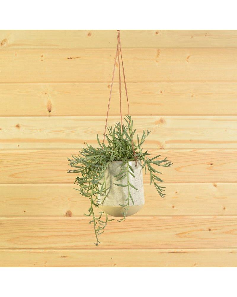 HomArt Logan Ceramic Vase - Lrg - Flecked White