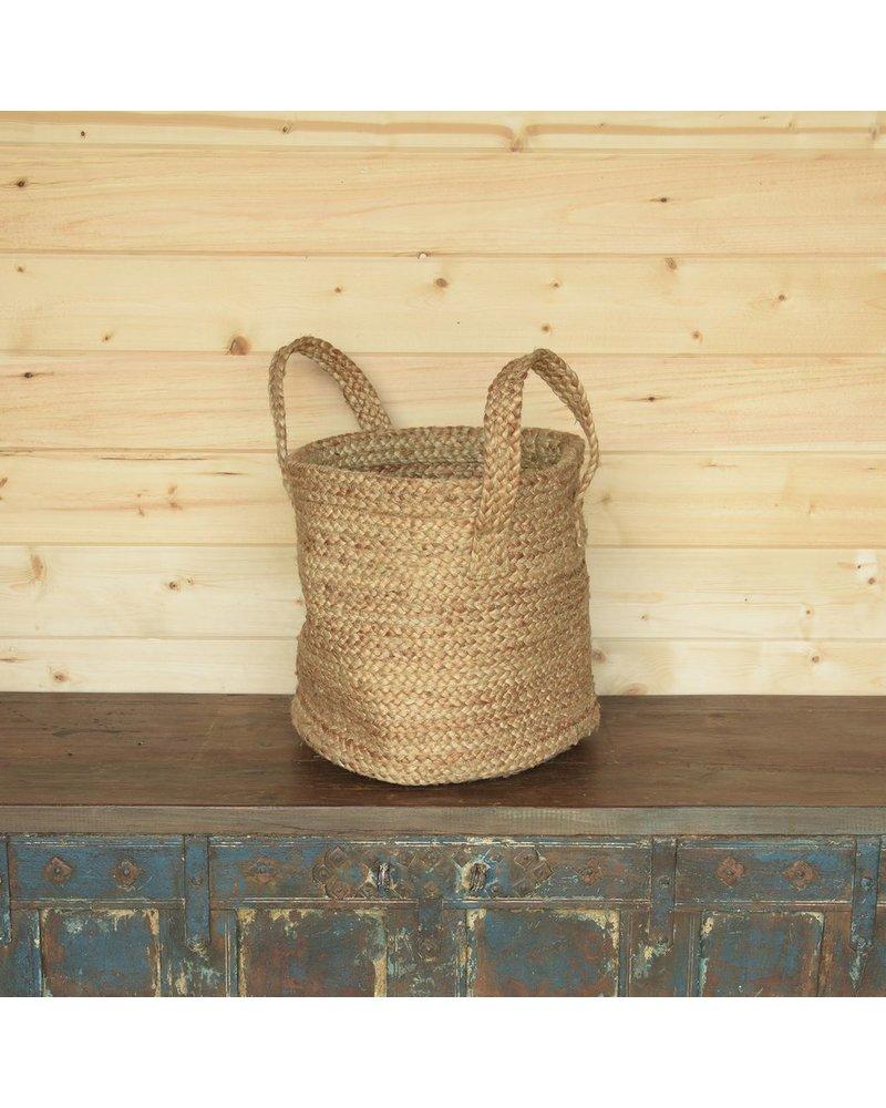 HomArt Santa Cruz Braided Hemp Basket - Natural
