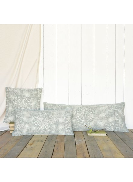 HomArt Wyatt Pillow 12x24 - Sky Grey