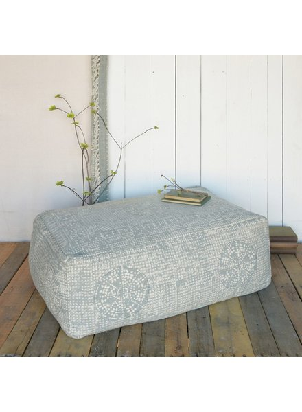 HomArt Wyatt Pouf - Rectangle - Sky Grey