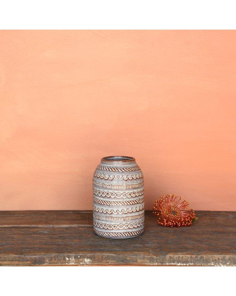 HomArt Tunisia Ceramic Vase - Sm - Matte Purple