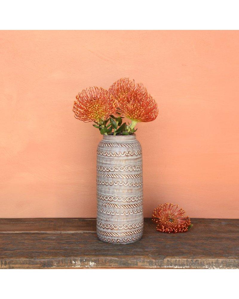 HomArt Tunisia Ceramic Vase - Lrg - Matte Purple
