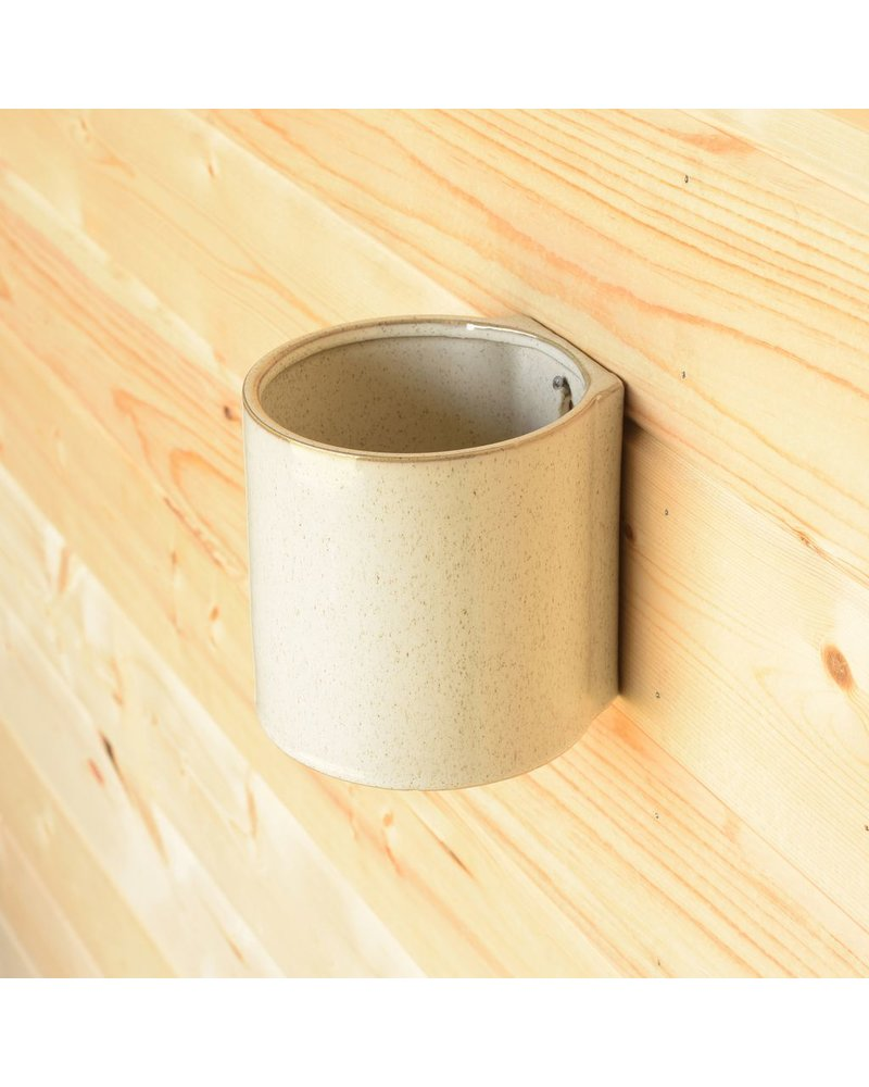 HomArt Logan Wall Vase - Sm - Flecked White