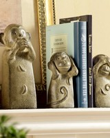 Three Wise Monkeys Bookend Set