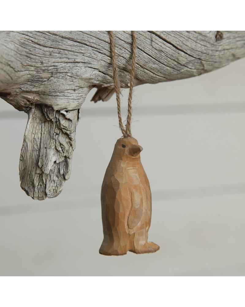 HomArt Carved Wood Ornament - Penguin Set of 3