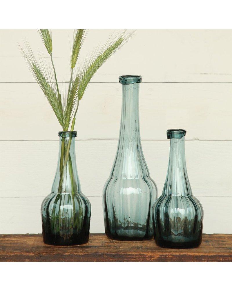 HomArt Basal Glass Bottle - Sm - Vintage Blue