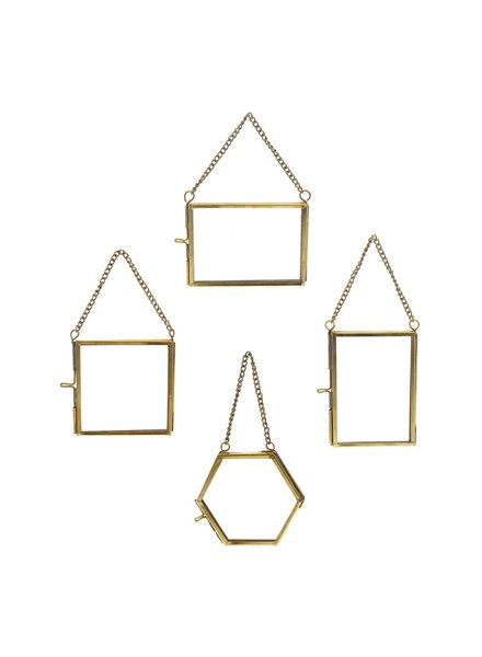 HomArt Monroe Ornament Frames Set of 12 - 3 Each - Brass