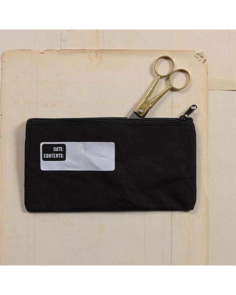HomArt Canvas Zipper Bag with Logo - Pencil - Black