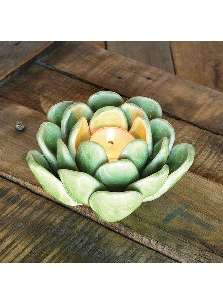 HomArt Succulent Tealight Holder - Green