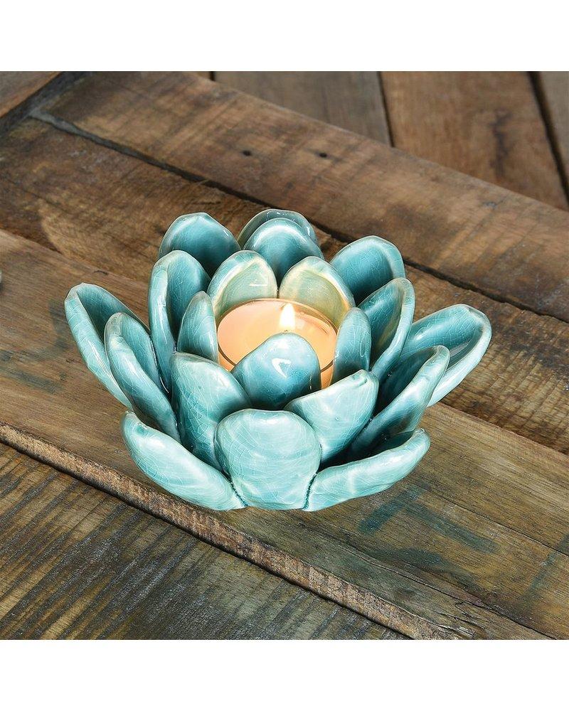 HomArt Succulent Tealight Holder - Blue