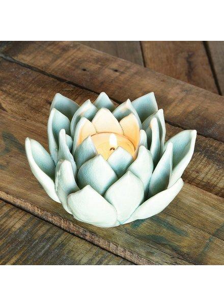 HomArt Succulent Tealight Holder - Pale Blue