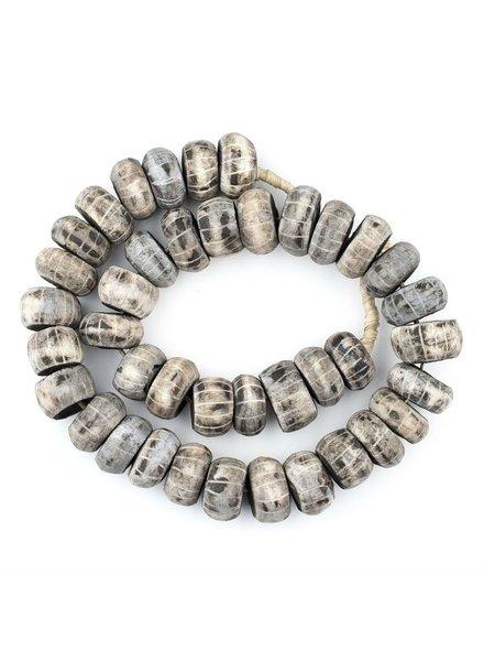 Kilim Company Carved Grey Bone Beads