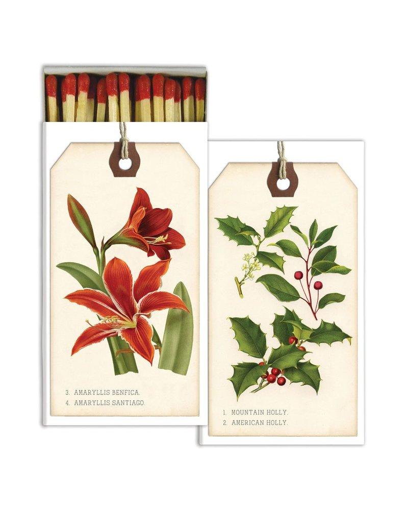 HomArt Matches - Holiday Botanical Tags - Set of 3