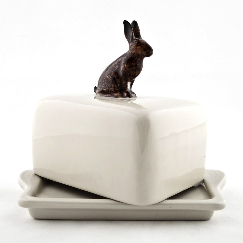 Europe Hare Butter Dish