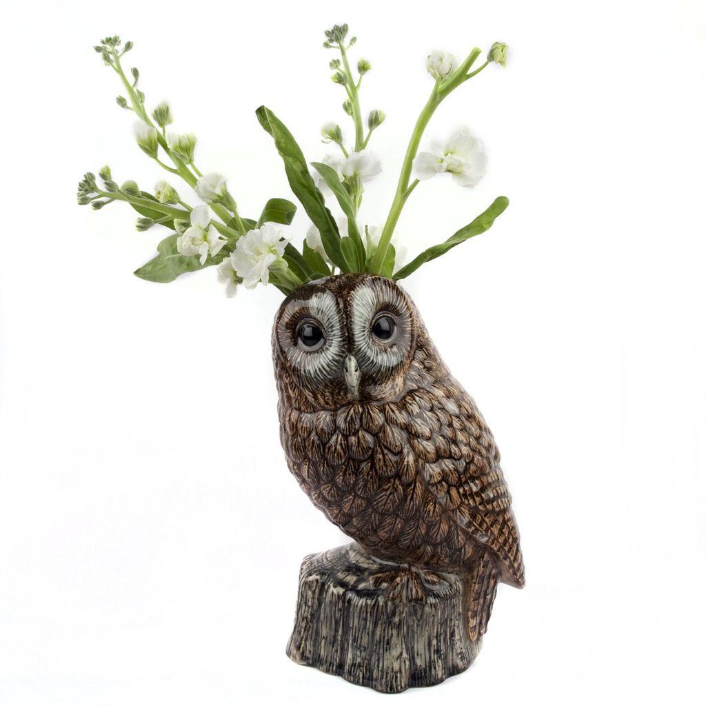 Europe Tawny Owl Rower Vase Large