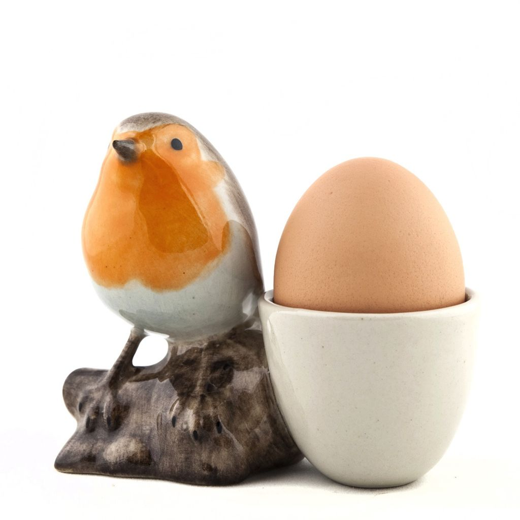 Europe Robin with egg cup