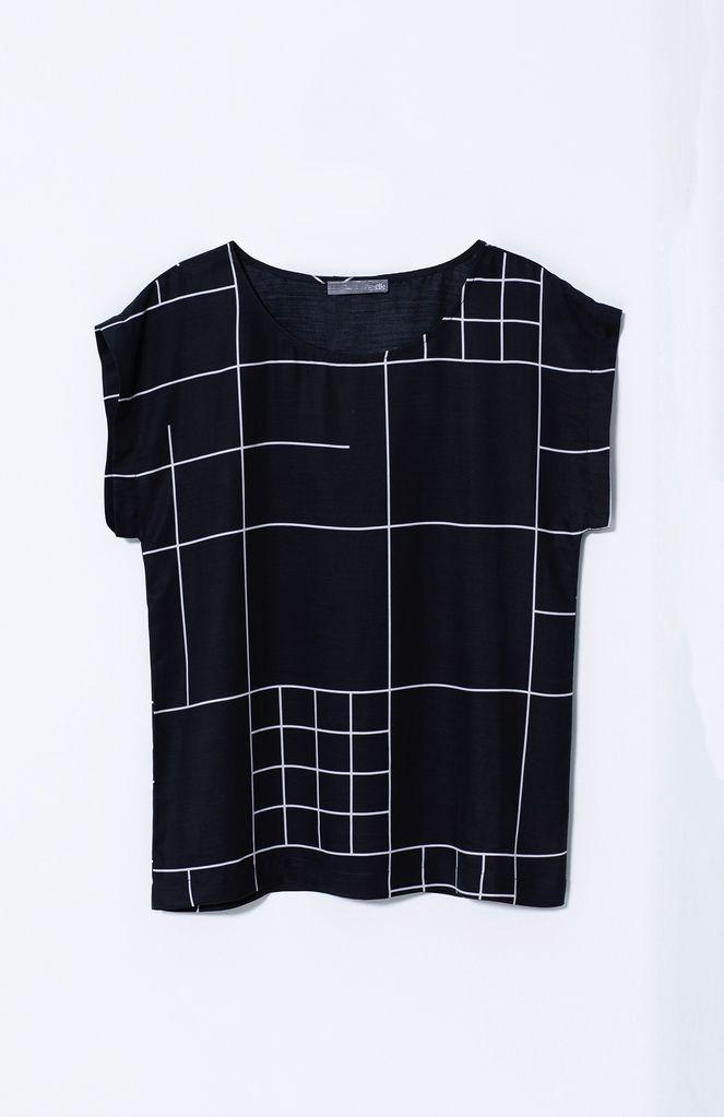 Australia M Black/white Galler Top