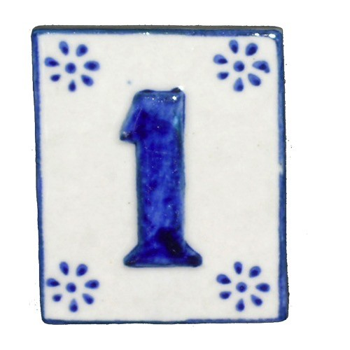 Australia #1 TILE Blue/White Ceramic