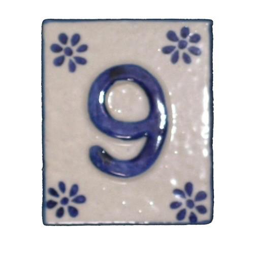 Australia #9 TILE Blue/White Ceramic